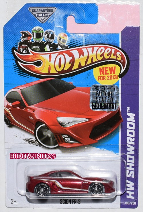 small resolution of hot wheels 2013 hw showroom scion fr s red factory sealed