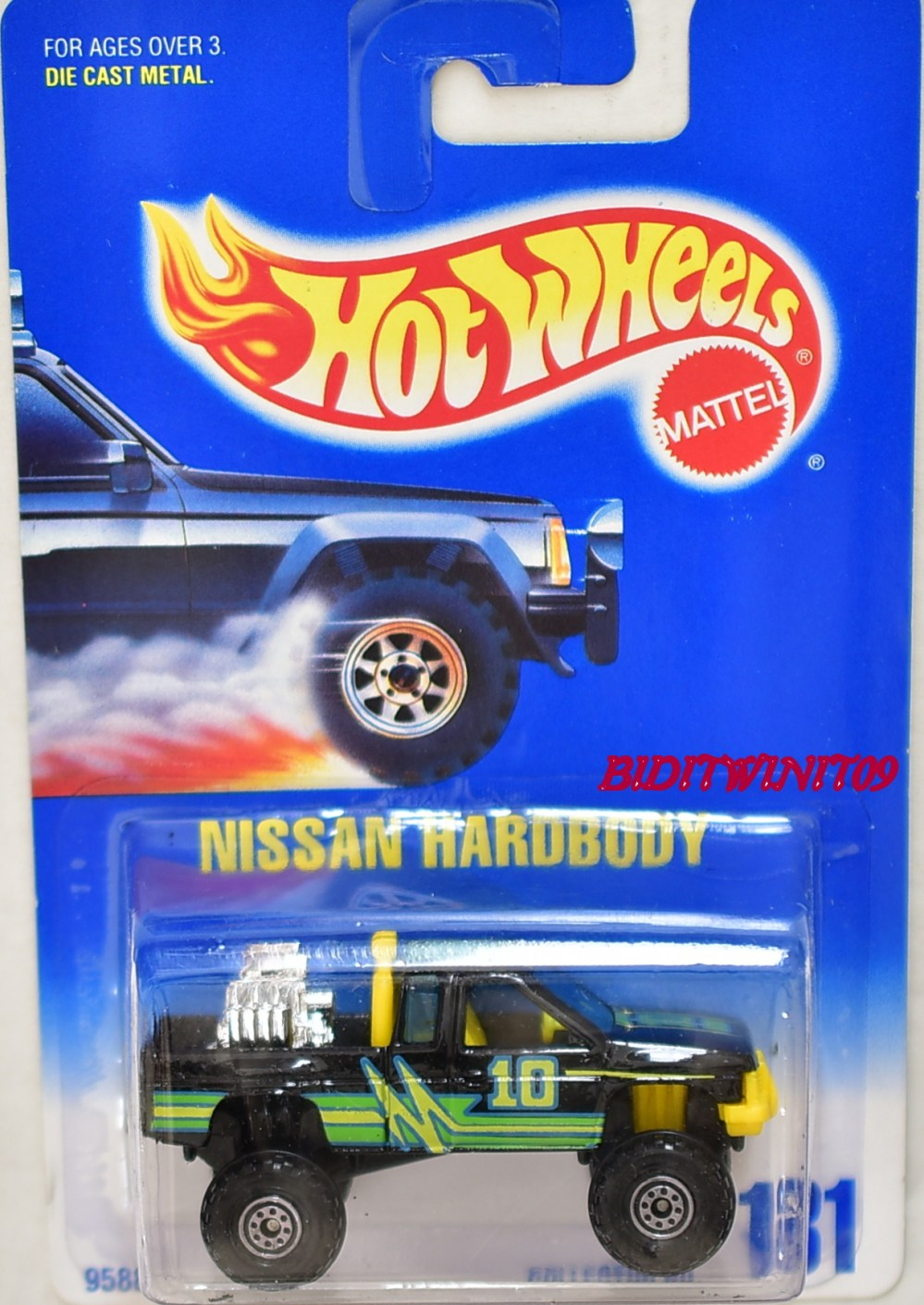 medium resolution of hot wheels 1991 blue card nissan hardbody black w yellow interior ct wheels