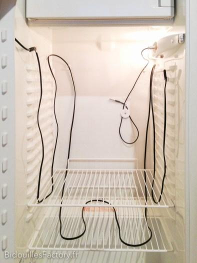 J'utilise un câble pour terrarium comme système de chauffage si la consigne est supérieure à la tempérture actuelle.