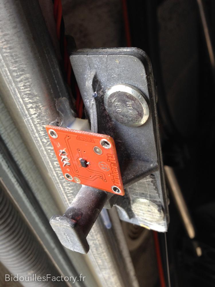 brancher des capteurs de porte de garage