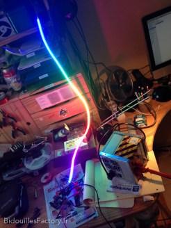 Premier test de la bande de LEDs avec un squetch de démonstration