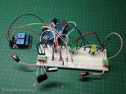 Le test du nouveau circuit sur un breadboard