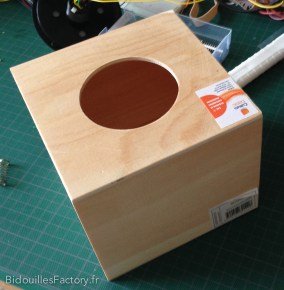 La boîte avant perçage