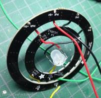 Les 2 rings et la LED en séries