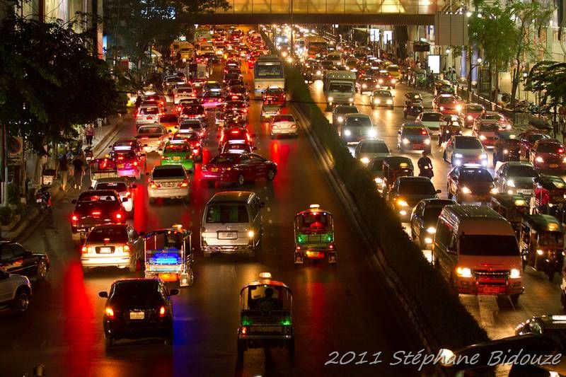 The Bangkok traffic jam