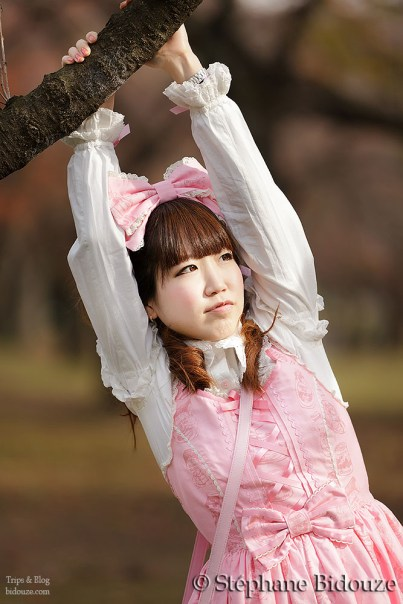 japanese lolita in nature