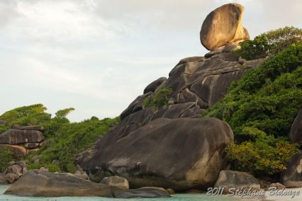 rocky tropical coastline