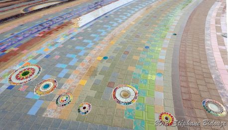 colorful ceramic floor