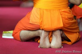 buddhist monk foot