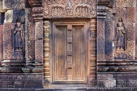 Khmer temple door