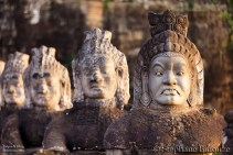 Angkor south door statues