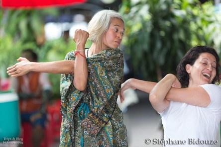 Bangkok, Juillet 2013: Le quartier de Thewet et Le temple Wat Pho