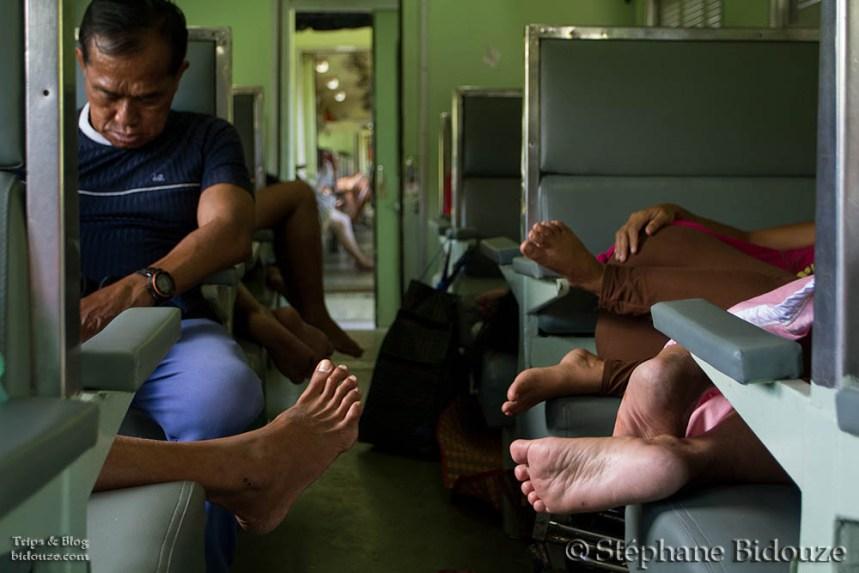 The mess in a Thai train