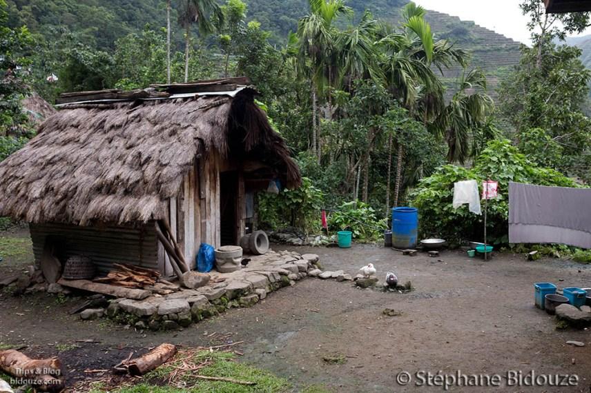 Une hutte dans le village de Batad