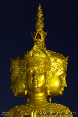 four-headed-golden-statue