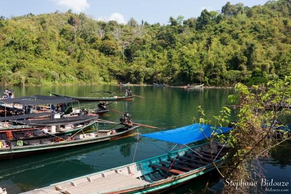 depart-bateau-lac-chew-larn-thailande
