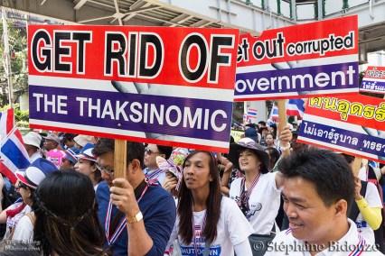 Les manifestations de Janvier 2014 en Thailande