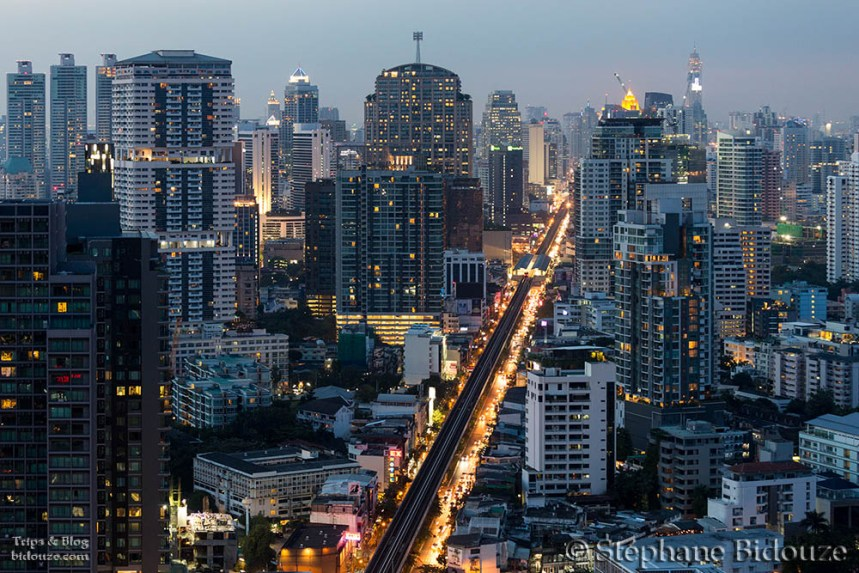 Sukhumvit road in the evening