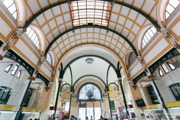 Ho Chi Minh City-poste-entrée-architecture-eiffel