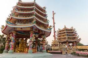 Le temple Chinois Phra Kiti Chalerm temple, Chon buri