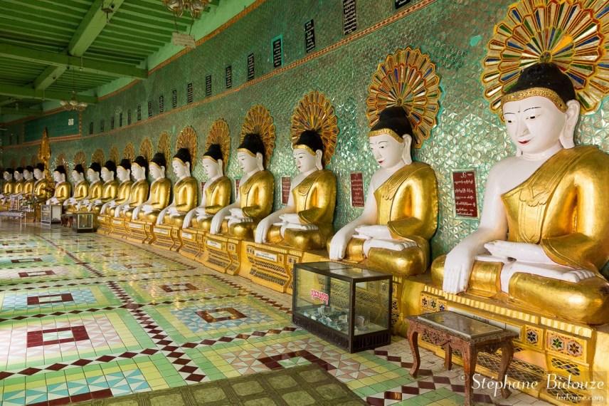 sagaing-U-Min-Thonze -pagode-bouddha-statues