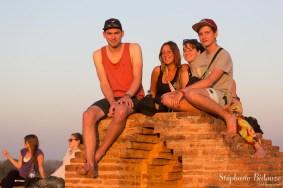 Pauline, Mélanie et les deux jeunes Allemands