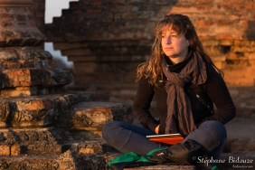 Pauline en pleine méditation