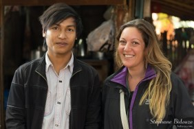 Mélanie avec un jeune Birman