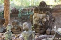 Des reliques Bouddhistes dans le parc