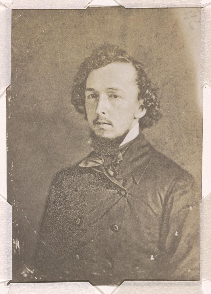 Bayard Taylor, head-and-shoulders length studio portrait, facing slightly left