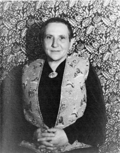 Photo of Gertrude Stein.