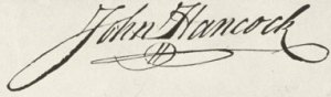 Image of John Hancock's signature.