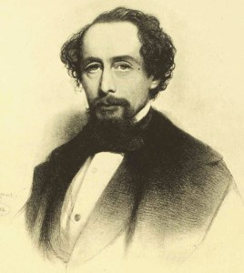 Sketch of Charles Dickens.