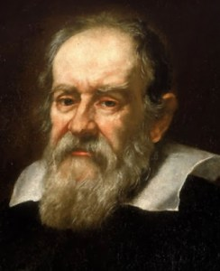 Portrait of Galileo Galilei.