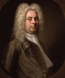 Portrait of George Frideric Handel.