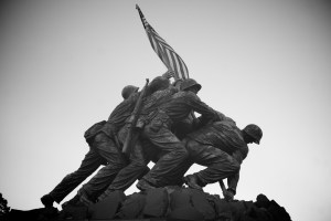 Photo of the Marine Corps War Memorial.