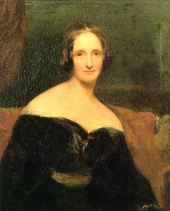 Portrait of Mary Shelley.
