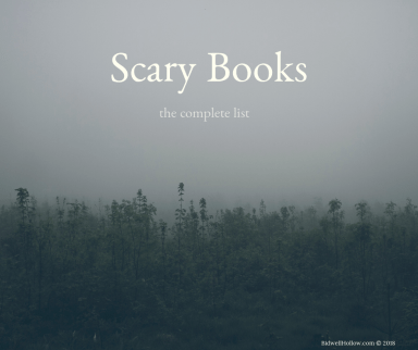 "Image with the words, ""Scary books: the complete list."""