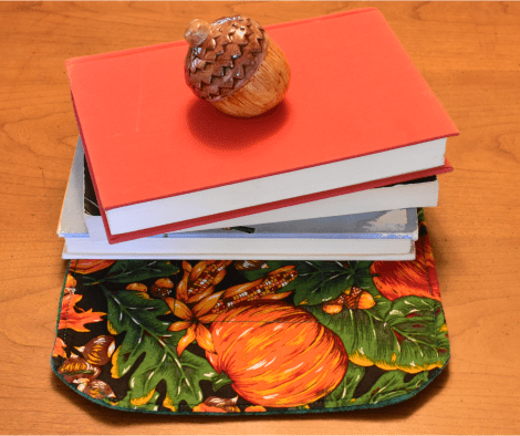 Photo of Thanksgiving books on a table.