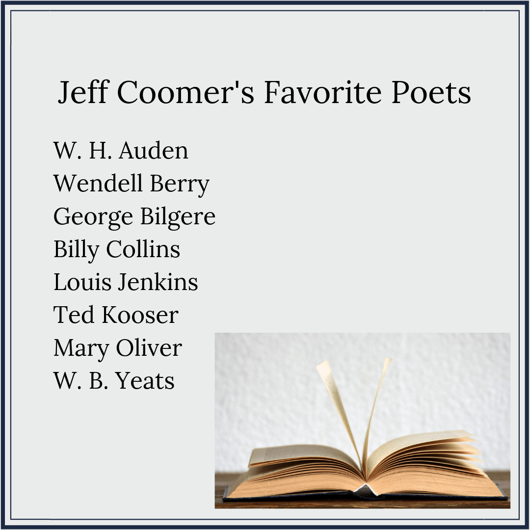 Jeff Coomer: From executive to poet & what poetry needs more