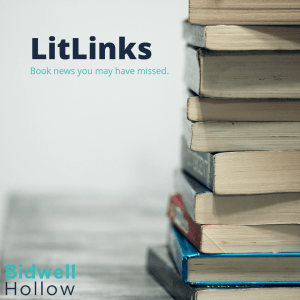 "Books stacked on a table next to the words, ""LitLinks: Book news you may have missed."""
