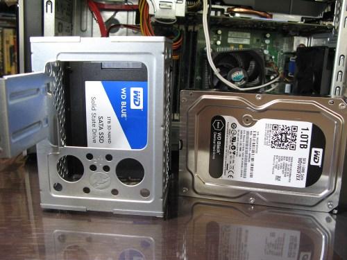 HDD → SSD 換装