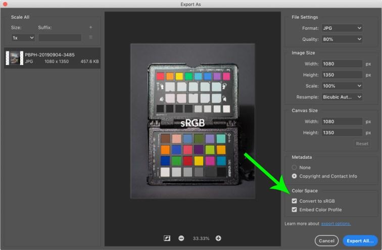 Photoshop, plugin Export As