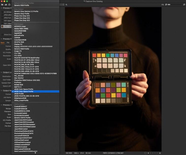 Capture One PRo - cała gama przestrzeni kolorystycznych