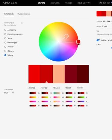 Kolory zezdjęcia 3 nakole kolorów