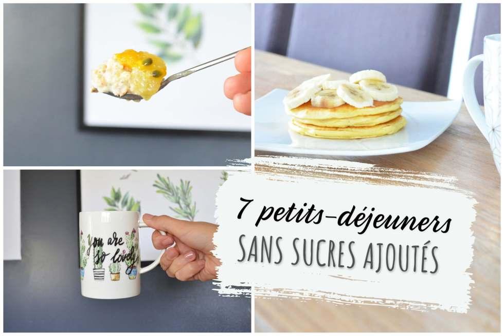 petits-déjeuners sans sucres ajoutés