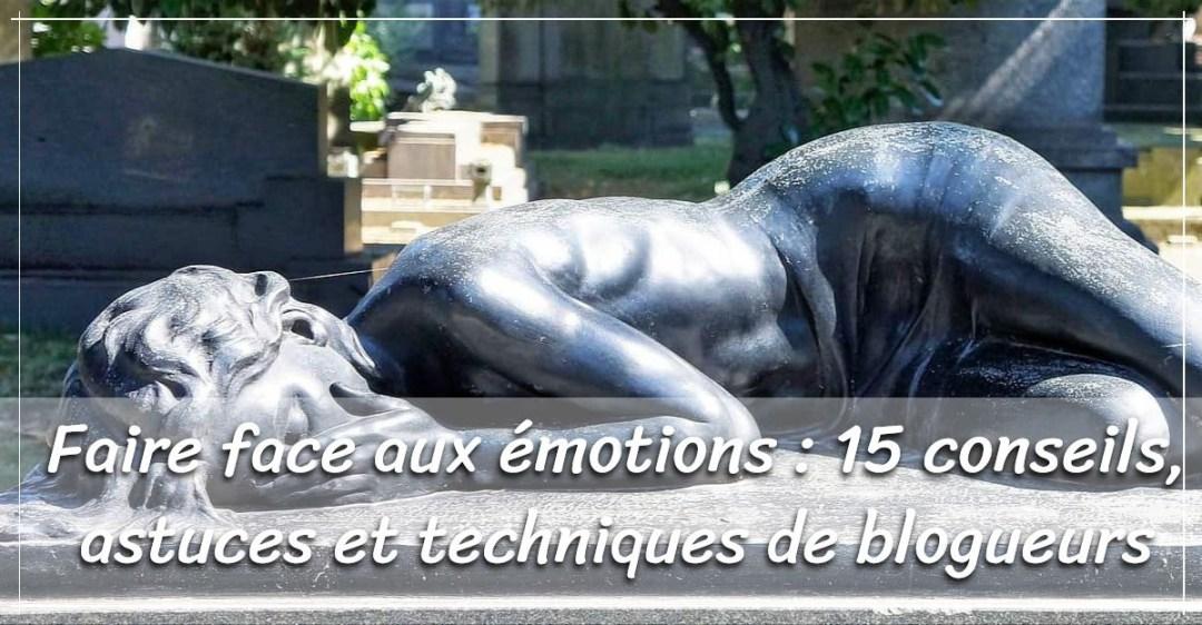 face aux émotions : sculpture femme chagrin