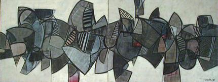 Justino Alves 1978 S/ TÍTULO Acrílico s/ tela 263 x 100 cm