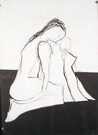 Luiz Delgado 1984 ÊNNÊ Tinta da China s/ Papel 61 x 43 cm