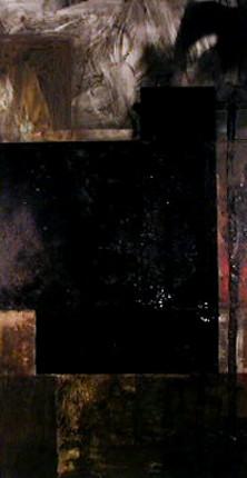 Cabrita Reis 1986 DA ORDEM E DO CAOS IX Pintura 197 x 100 cm